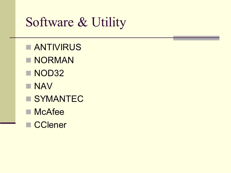 Software & Utility ANTIVIRUS NORMAN NOD32 NAV SYMANTEC McAfee CClener