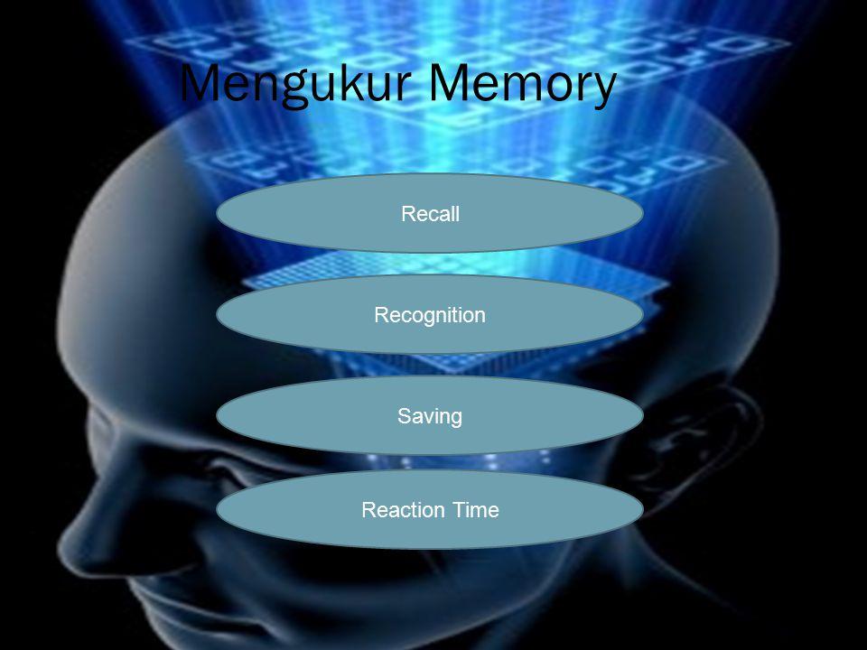 Mengukur Memory Recall Recognition Saving Reaction Time