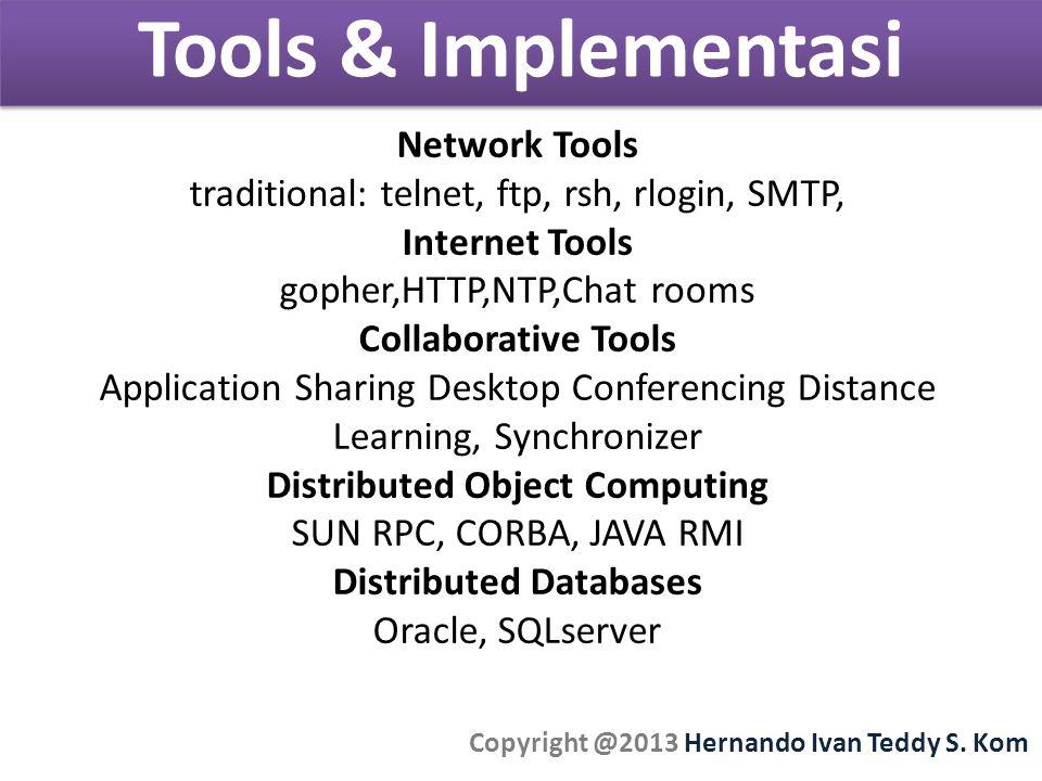 Tools & Implementasi Copyright @2013 Hernando Ivan Teddy S.