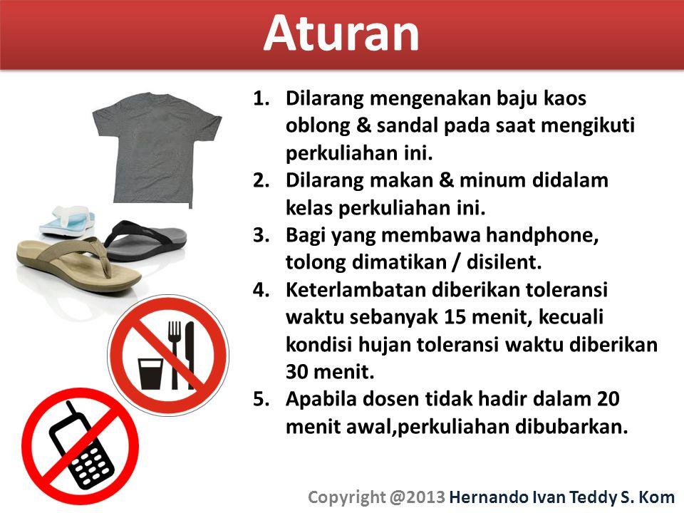 Aturan Copyright @2013 Hernando Ivan Teddy S.Kom 1.