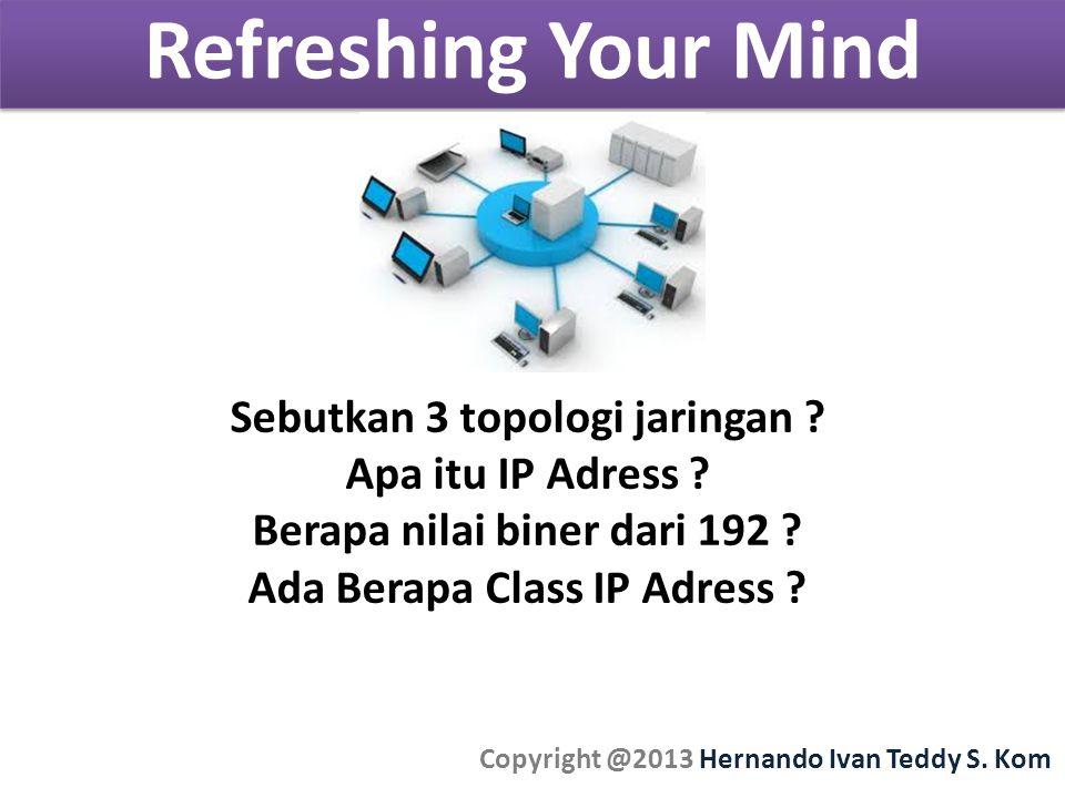 Refreshing Your Mind Copyright @2013 Hernando Ivan Teddy S.