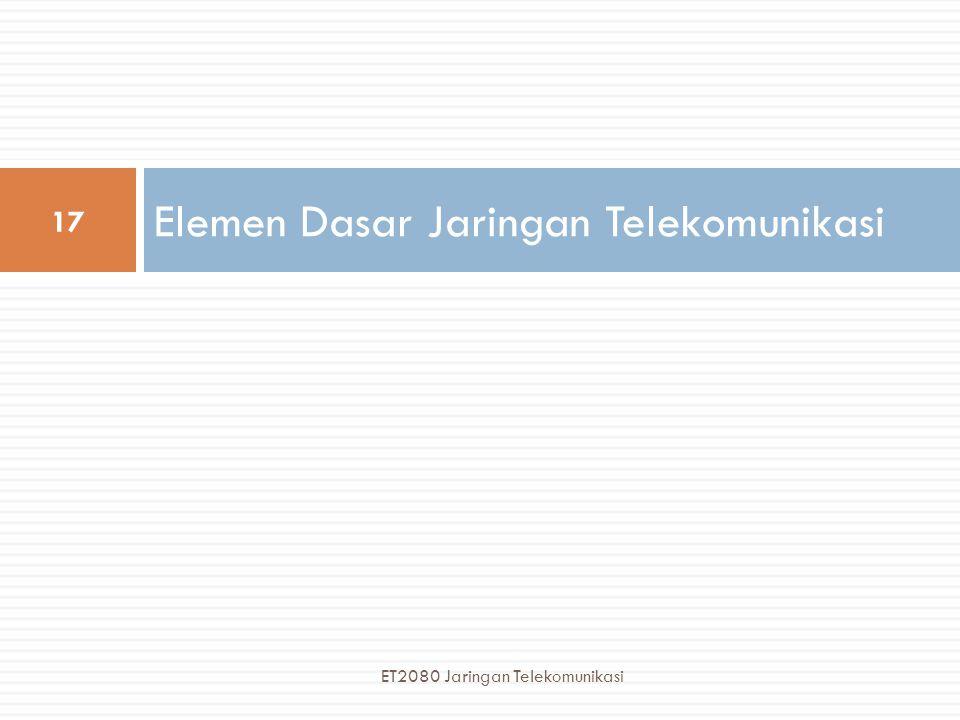 Elemen Dasar Jaringan Telekomunikasi 17 ET2080 Jaringan Telekomunikasi