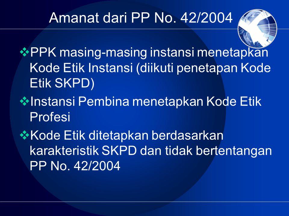 Amanat dari PP No.