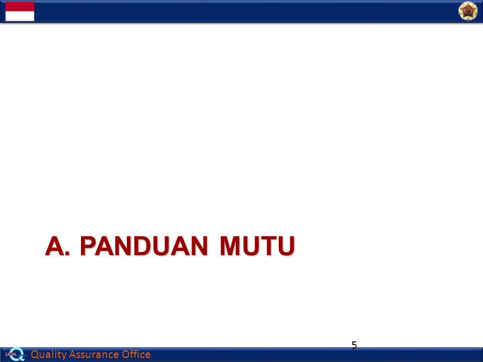 Quality Assurance Office A. PANDUAN MUTU 5