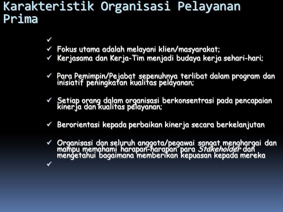 KUALITAS PELAYANAN PUBLIK 1. Prosedur pelayanan: Prosedur pelayanan yang dibakukan bagi pemberi dan penerima pelayanan termasuk pengaduan. 2. Waktu pe