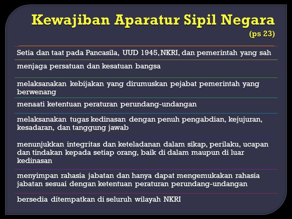 Setia dan taat pada Pancasila, UUD 1945, NKRI, dan pemerintah yang sah menjaga persatuan dan kesatuan bangsa melaksanakan kebijakan yang dirumuskan pe