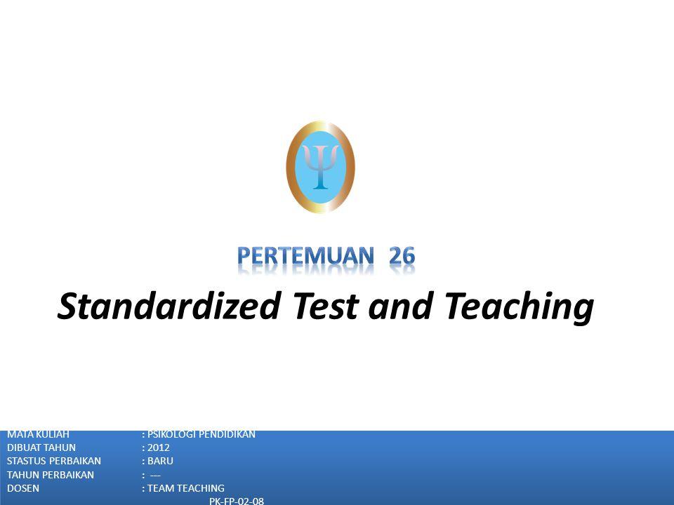 Diagnostic Tests Diagnostic test terdiri dari evaluasi area pembelajaran spesific secara relatif mendalam Ukuran diagnostic adalah (Payne, 1997): (1)observasi informal oleh guru; (2)survey battery; (3)tes diagnostik kelompok; (4)tes diagnostik individual Fakultas Psikologi Universitas Tarumanagara (www.psikologi.tarumanagara.ac.id)