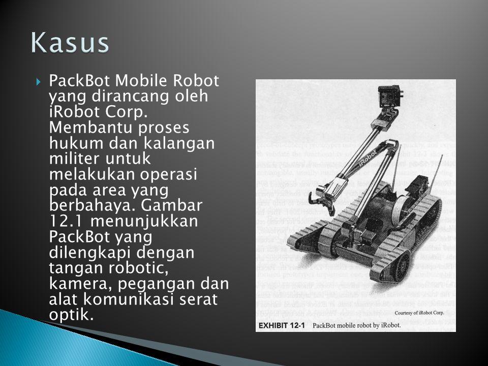  PackBot Mobile Robot yang dirancang oleh iRobot Corp. Membantu proses hukum dan kalangan militer untuk melakukan operasi pada area yang berbahaya. G