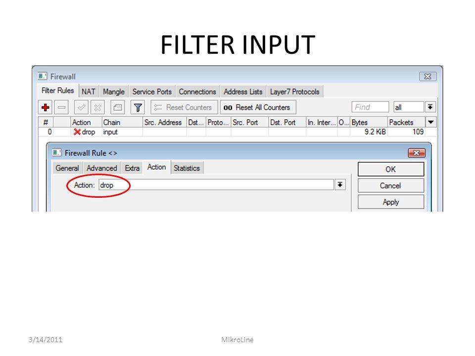 FILTER INPUT 3/14/2011MikroLine