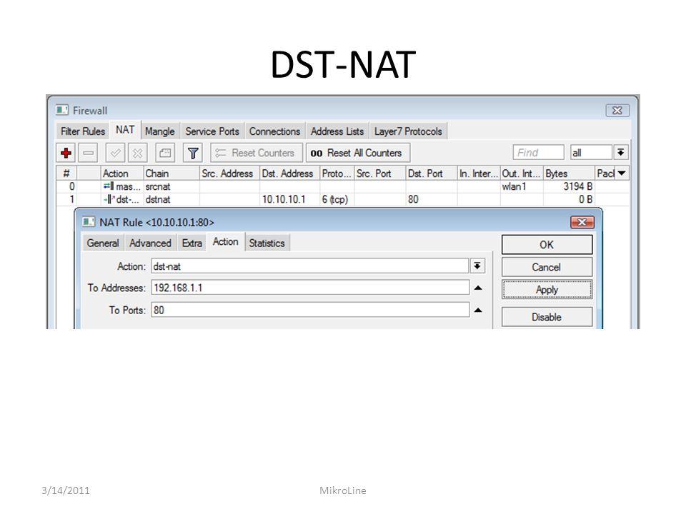 DST-NAT 3/14/2011MikroLine