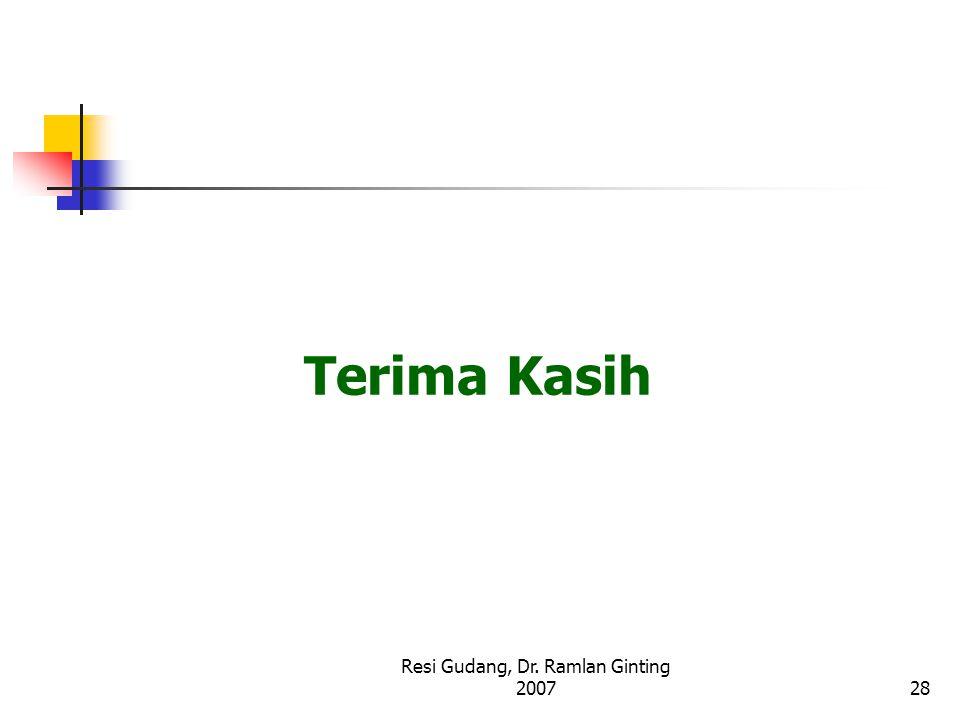 Resi Gudang, Dr. Ramlan Ginting 200728 Terima Kasih