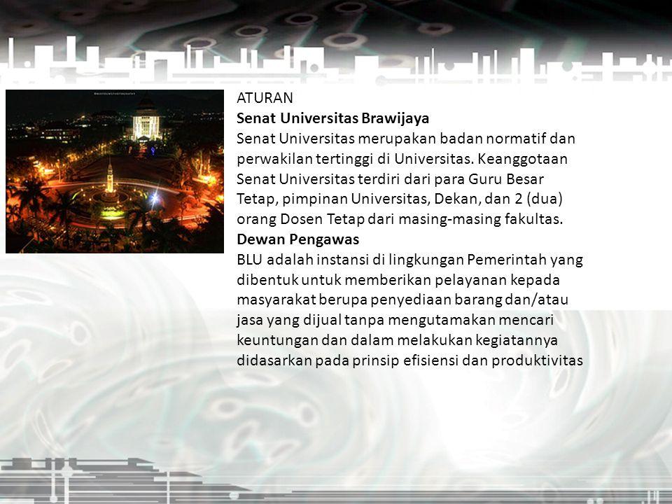 ATURAN Senat Universitas Brawijaya Senat Universitas merupakan badan normatif dan perwakilan tertinggi di Universitas. Keanggotaan Senat Universitas t