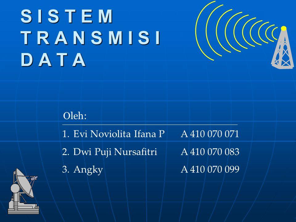 Menentukan data untuk dikirim Source Trans- mitter Trans- mission System Receiver Destination Mengubah data menjadi signal yang dapat dikirim Mengirim data Mengubah signal yang diterima menjadi data Pengguna data yang diterima Model Sederhana Sistem Komunikasi