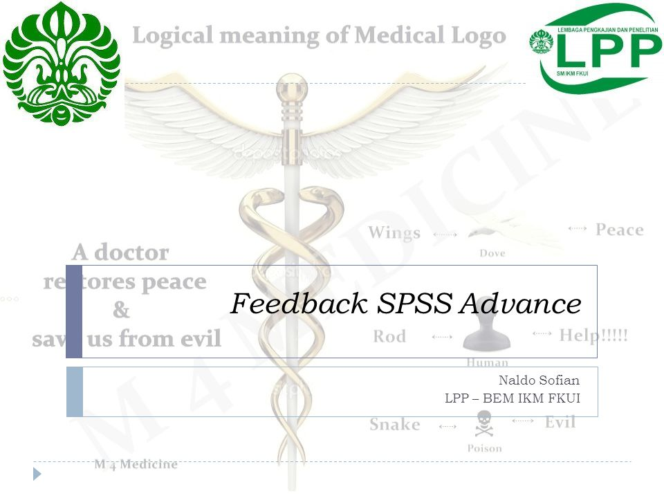 Feedback SPSS Advance Naldo Sofian LPP – BEM IKM FKUI