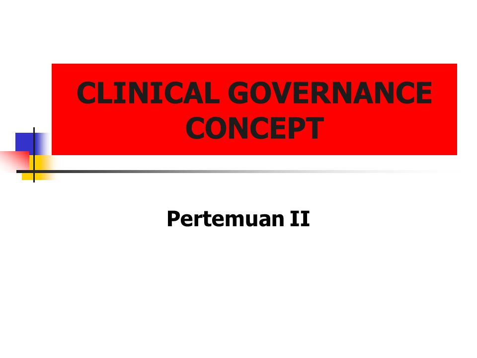 lilywi32 Kebijakan Health Act 1999 clear lines of responsibility and accountability for the overall quality of clinical care; ·a comprehensive programmed of quality improvement systems (including clinical audit, supporting and applying evidence-based practice, implementing clinical standards and guidelines, workforce planning and development); ·clear policies aimed at managing risk; and procedures for all professional groups to identify and remedy poor performance.