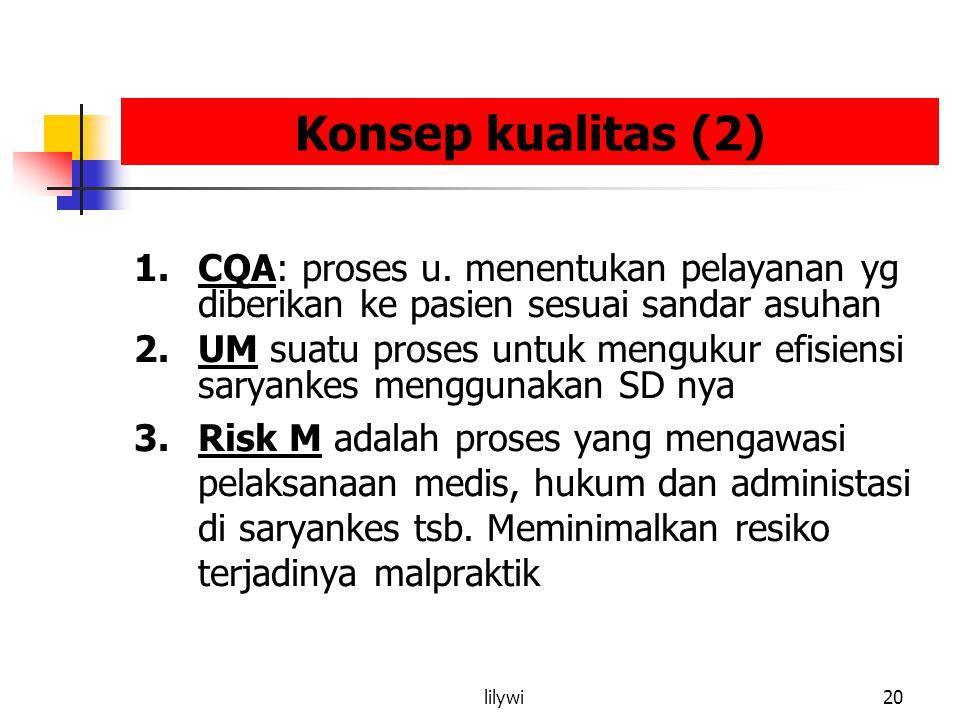 lilywi20 Konsep kualitas (2) 1.CQA: proses u.