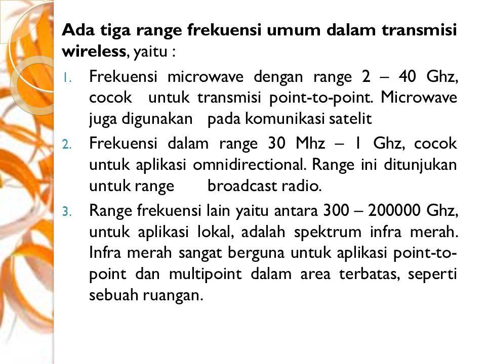 Microwave Microwave merupakan high-end dari RF (Radio Frequency), sekitar 1 - 30 GHz.