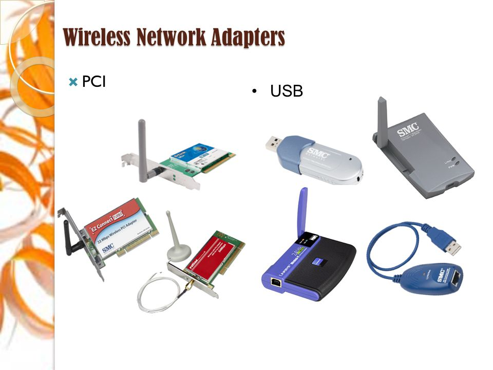 Wireless Network Adapters  PCI USB