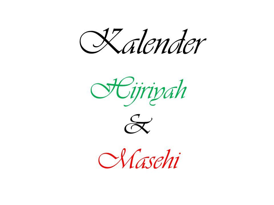 Kalender Hijriyah & Masehi