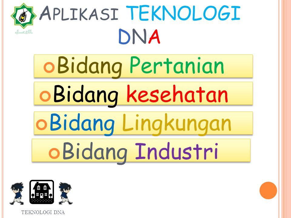 FAKTOR-FAKTOR DNA REKOMBINAN TEKNOLOGI DNA