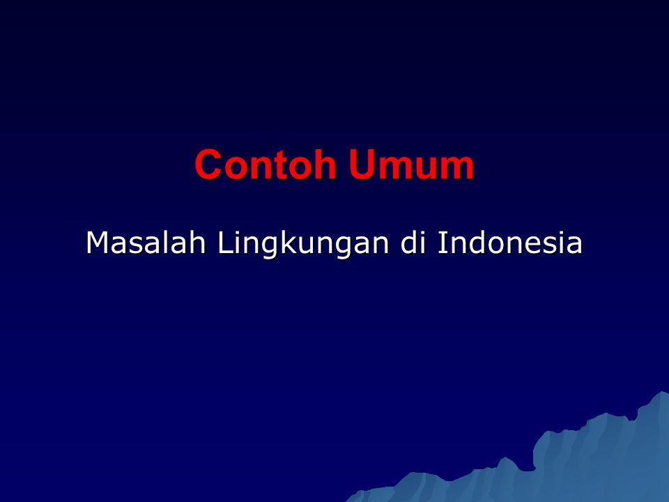 Contoh Umum Masalah Lingkungan di Indonesia