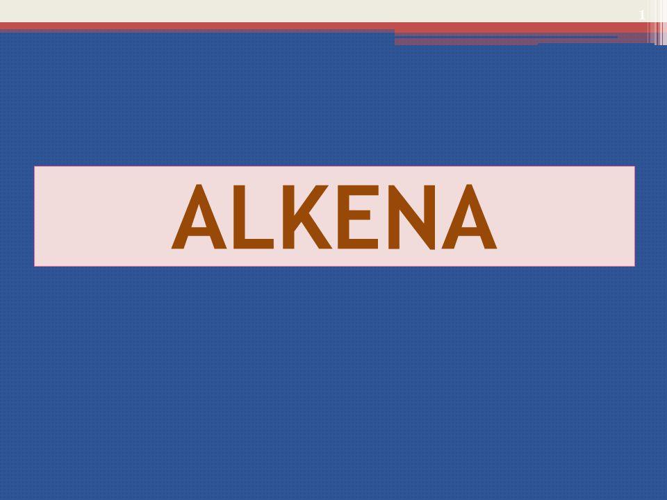 SIFAT KIMIA / REAKSI KIMIA Sifat kimia alkena yang merupakan ciri dari senyawa yang mempunyai ikatan rangkap adalah Reaksi Adisi Reaksi Adisi terjadi melalui pemutusan ikatan  ( yang bersifat lebih lemah ) pada ikatan rangkap