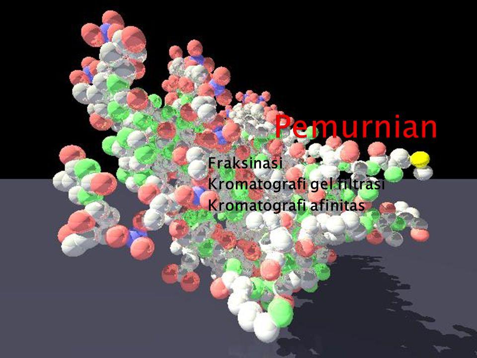 Fraksinasi Kromatografi gel filtrasi Kromatografi afinitas