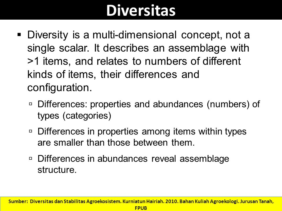 What are the properties of the community that can be measured to indicate its alpha diversity.