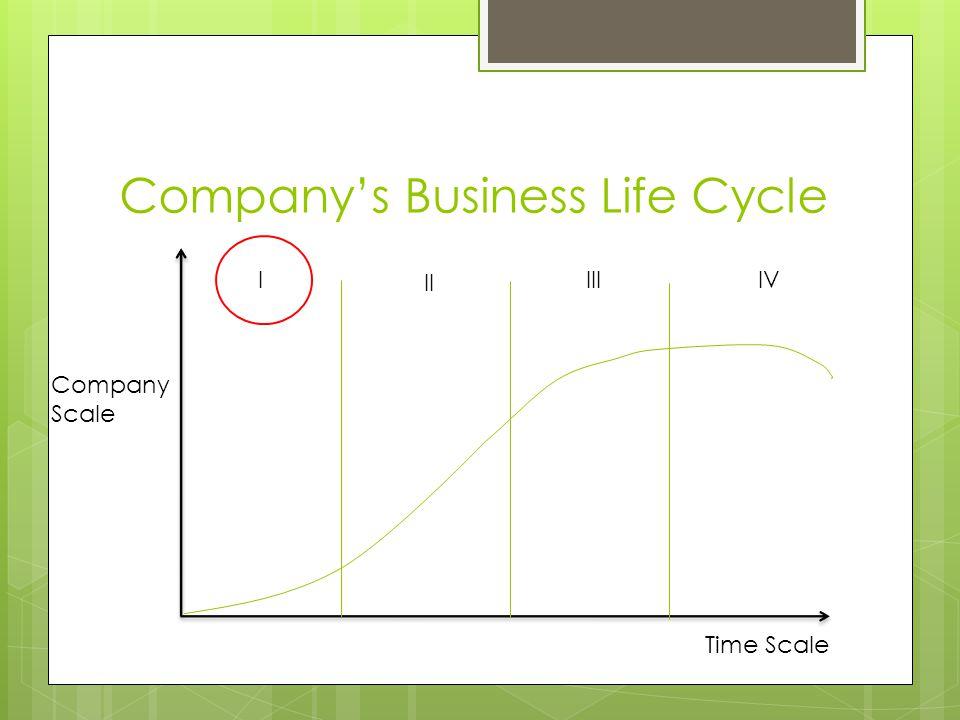 Company's Business Life Cycle Company Scale Time Scale II IIIIVI
