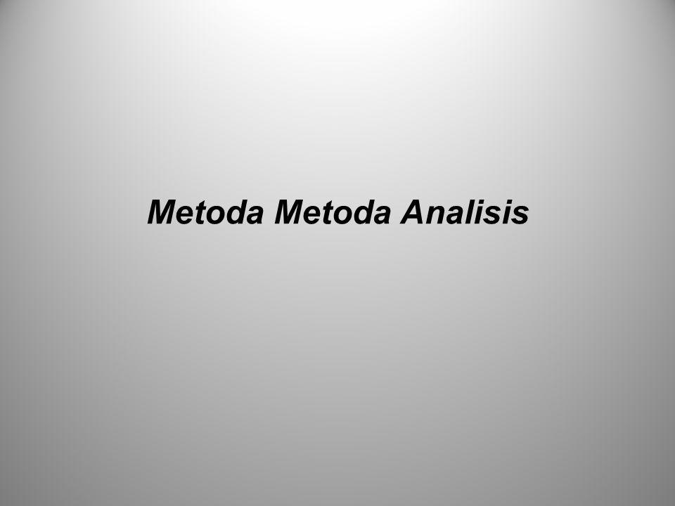 Metoda Metoda Analisis