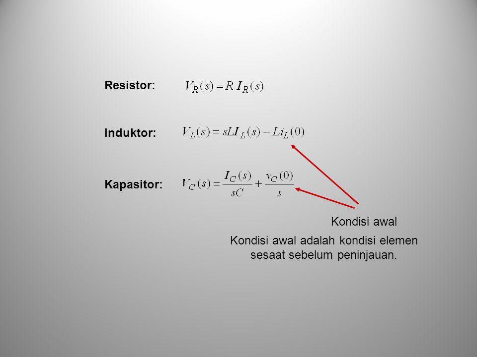 Misalkan V in (s) = 10/s Inilah tanggapan rangkaian RLC seri dengan R = 3 , L = 1H, C = 0,5 F dan sinyal masukan anak tangga dengan amplitudo 10 V.