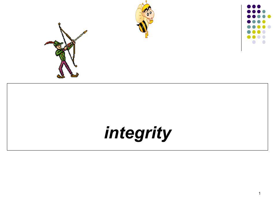 Integrity / Integritas Adalah menjamin keakurasian atau keabsahan data yang disimpan dalam basisdata.