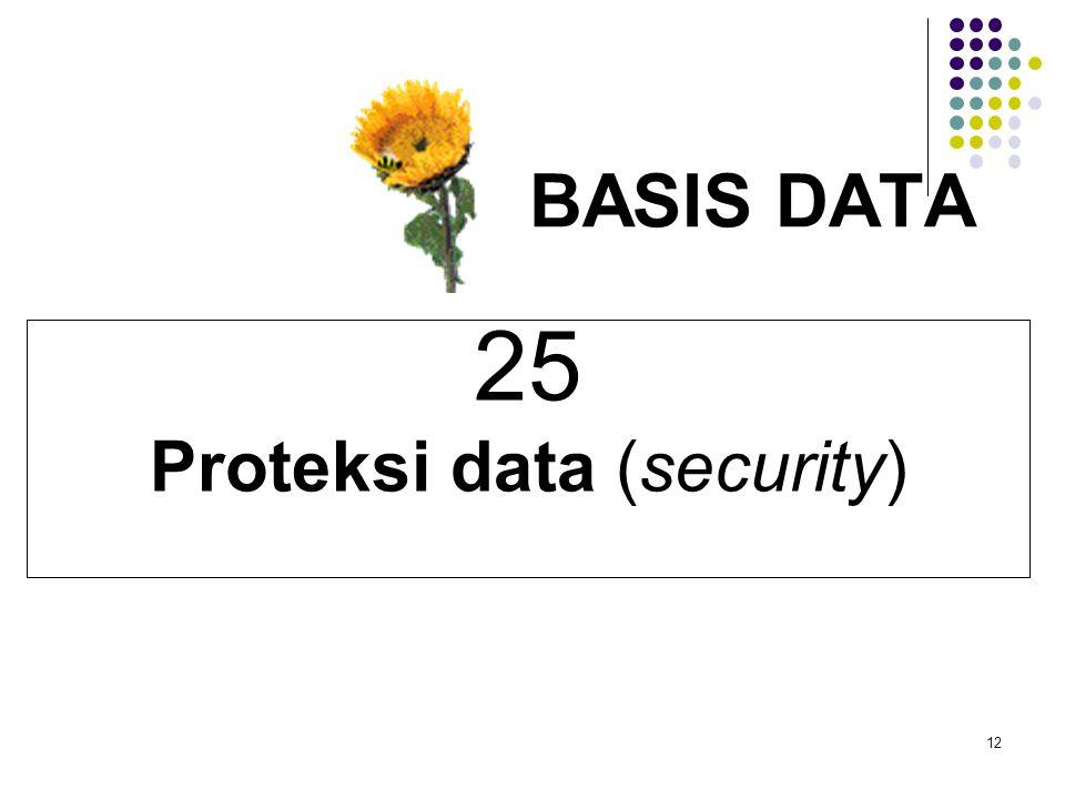 12 BASIS DATA 25 Proteksi data (security)