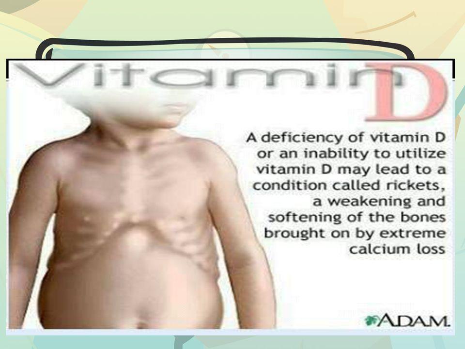 Fungsi vitamin D Merangsang penyerapan kalsium dan fosfor di usus.
