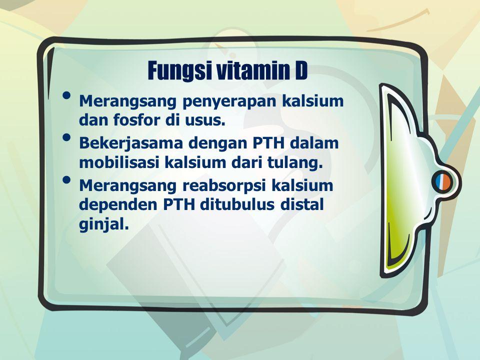 Sumber vitamin D sinar UV untuk sintesis endogen kulit.