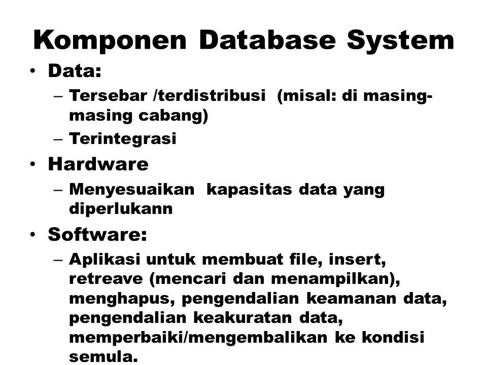 Layanan-layanan DBMS Menyediakan layanan pengontrolan akses ke database seperti berikut: – Sistem pengamanan yang mencegah para pengguna yang tidak be