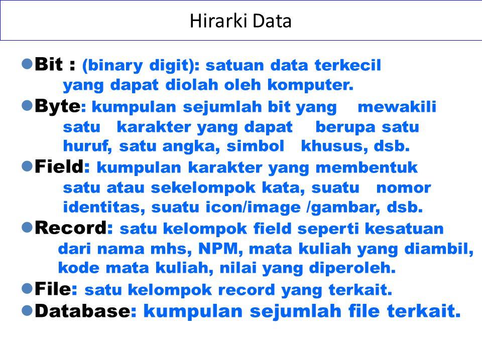 File-Based Approach Adalah sekumpulan program aplikasi yang membantu para end- users dalam membuat laporan- laporan.