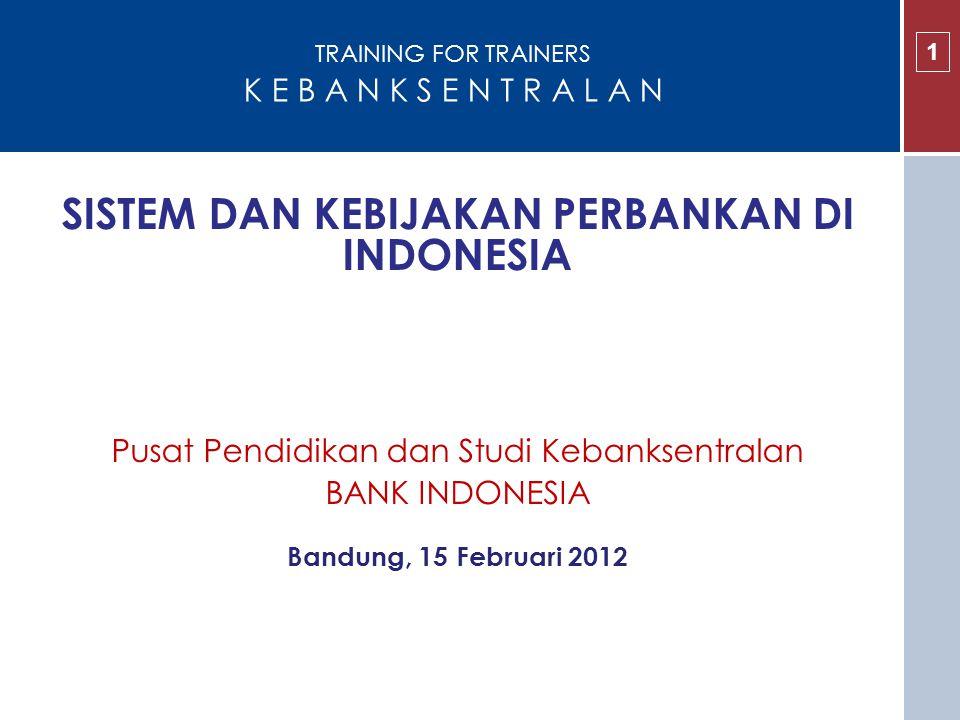 MATERI KULIAH 2 1.Sistem dan Kebijakan Perbankan di Indonesia 2.