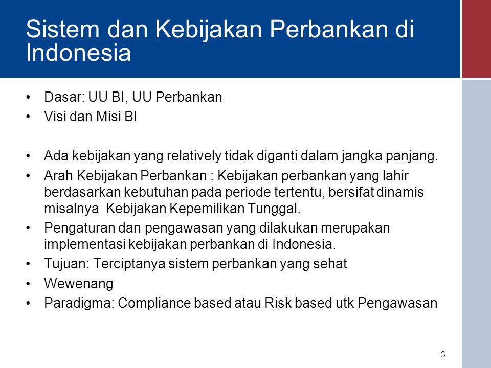 Visi dan Misi Bank Indonesia Visi Bank Indonesia Menjadi lembaga Bank Sentral yang dapat dipercaya (kredibel) secara nasional maupun internasional melalui penguatan nilai-nilai strategis yang dimiliki serta pencapaian inflasi yang rendah dan stabil.