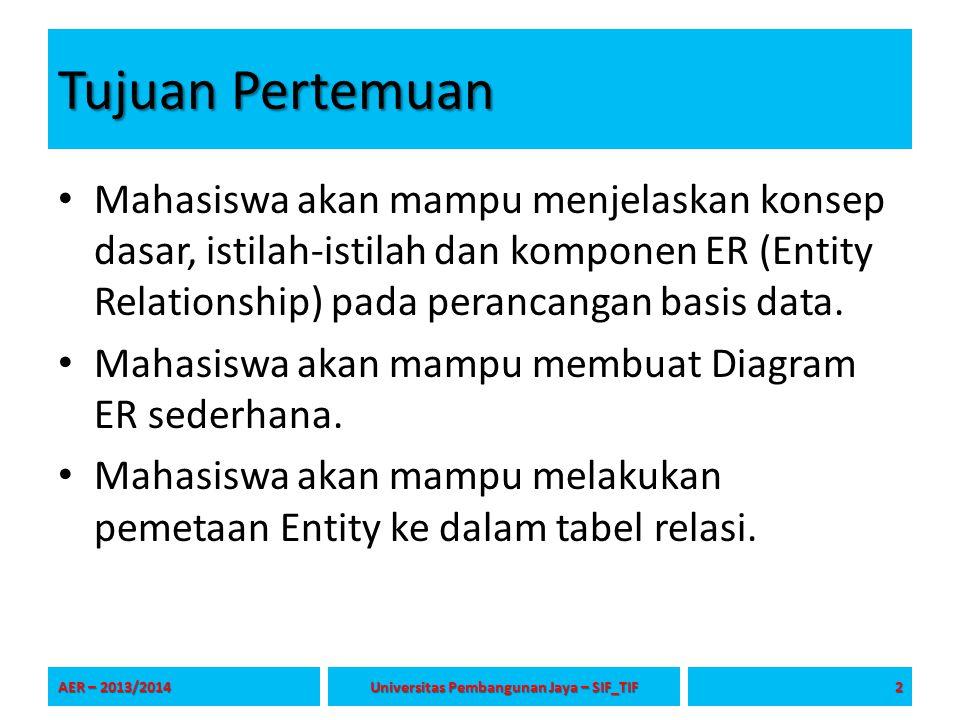 See You Next Session Thank's Thank's AER – 2013/2014 Universitas Pembangunan Jaya – SIF_TIF SIF1213 - 23