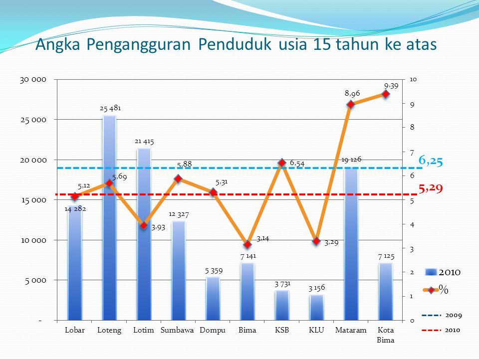 Angka Pengangguran Penduduk usia 15 tahun ke atas