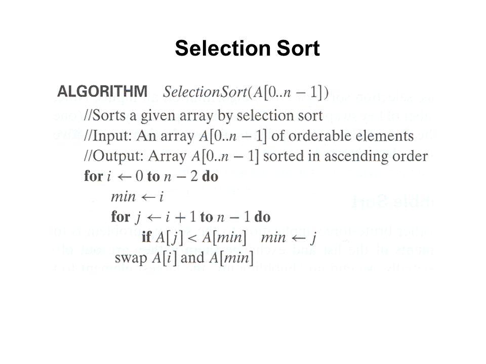 Selection Sort