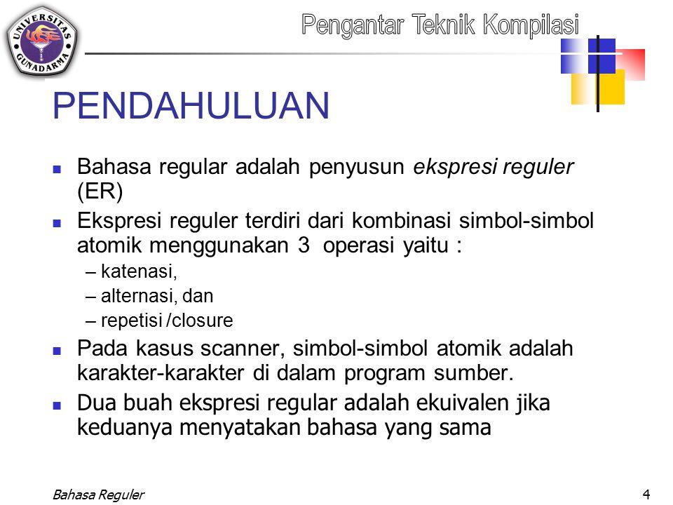 Bahasa Reguler25 Ekivalensi AHN-  Dengan ER (Ekspresi Regular)
