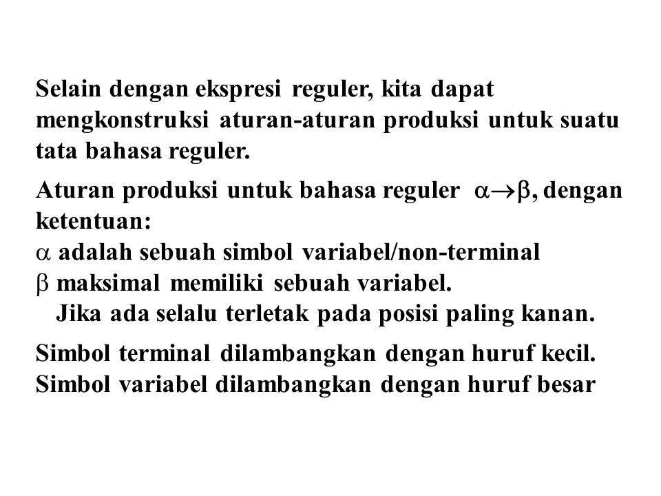 Latihan 1.Tentukan tata bahasa reguler untuk bahasa yang diterima oleh otomata berikut.