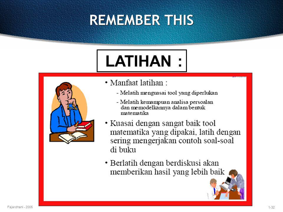 1-32 Fajardhani - 2005 REMEMBER THIS LATIHAN :