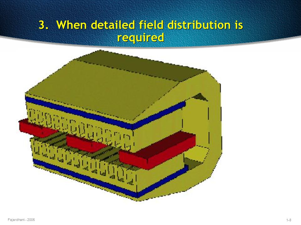 1-8 Fajardhani - 2005 3. When detailed field distribution is required