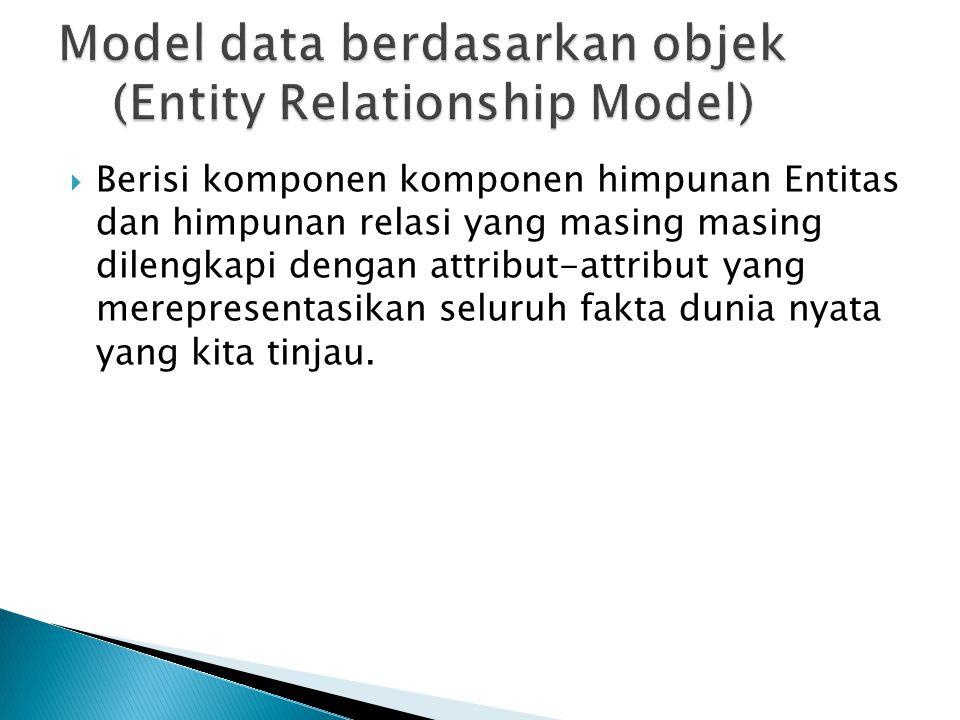 Aturan umum dalam pemetaan model data yang digambakan dalam bentuk ERD ke bentuk Data fisik adalah:  1.