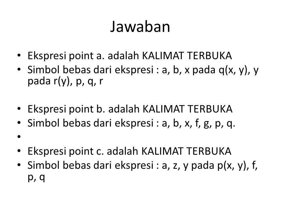 Jawaban Ekspresi point a.