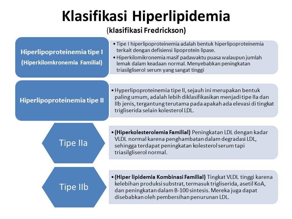 Klasifikasi Hiperlipidemia (klasifikasi Fredrickson) Tipe I hiperlipoproteinemia adalah bentuk hiperlipoproteinemia terkait dengan defisiensi lipoprot