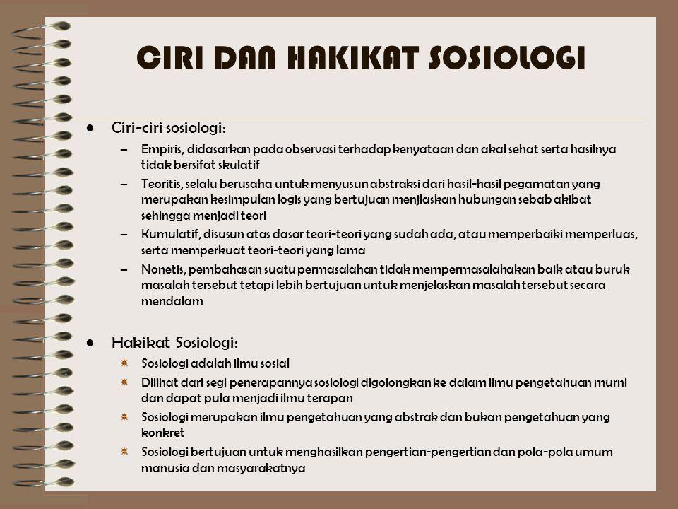 SEJARAH KELAHIRAN SOSIOLOGI Kelahiran sosiologi dilatarbelakangi oleh revolusi Industri di inggris dan Revolusi Sosial di Prancis Pertama kali dicetuskan oleh Auguste Comte Di Indonesia sosiologi mulai berkembang setelah indonesia merdeka, tepatnya pada tanggal 7 september 1955